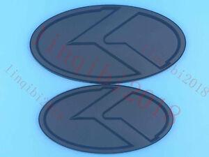 2pcs Hood Front Rear Black 3D K Logo Emblem Badge for KIA K5 Optima 2011 2013