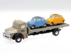 Schuco-Piccolo-Krupp-Pritschen-LKW-mit-zwei-Fiat-500-450567400