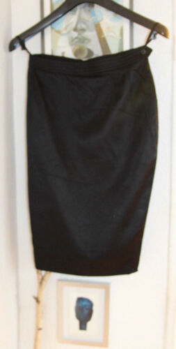 Pencil Schwarz 36 Laurent Saint Yves 34 Wolle Xs Elegant Skirt Gr S Seide qaxE4xCZw