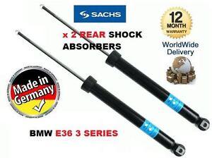 FOR BMW 3 SERIES E36 1990-1999 2 x REAR SHOCK SHOCKER STRUT ABSORBER
