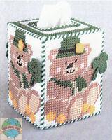Plastic Canvas Kit Design Works St. Patrick's Bear Tissue Box Cover Dw1340 Sale