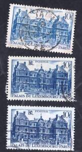 VARIETE-N-760-PALAIS-DU-LUXEMBOURG-LES-TROIS-NUANCES-obliteres