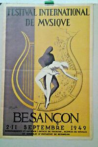 Affiche ancienne 21 Juin 1985 Faites de la Musique Fête signée Tomi Ungerer