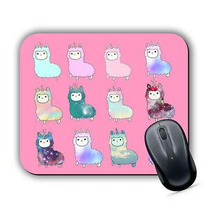 553e0dd67 Cute Llamacorn PINK MOUSE MAT Pad PC Laptop Unicorn Llama Kawaii ...