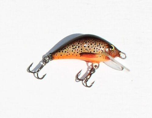 Forellen-Wobbler 4 cm Bielik Garbusek 2,5 Gramm Saibling Colors: Forelle