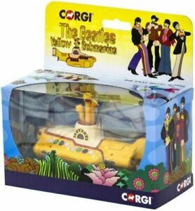 Corgi-CC05401-Raro-Nuevo-De-The-Beatles-Yellow-Submarine-Idea-de-Regalo-Reino-Unido-Stock-En-Caja
