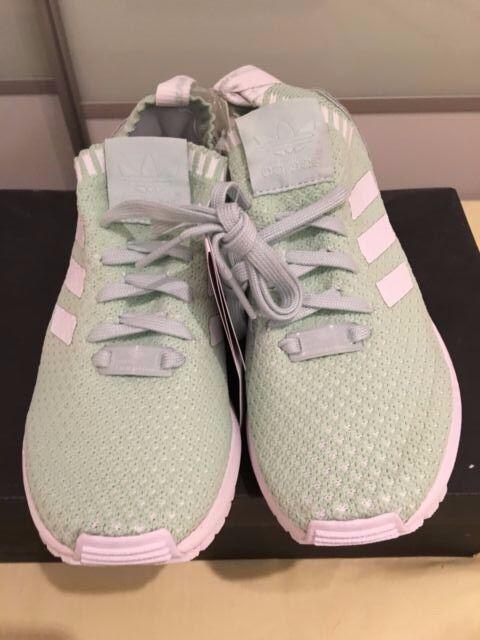 los angeles 775f7 efe81 ... Adidas Originals ZX Flux PK W Zapatos para mujeres Tenis Entrenadores  Verde S81899 ...