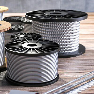 50m Edelstahlseil Drahtseil Edelstahl weich 3mm 7x7 Inox rostfrei V4A Drahtseil