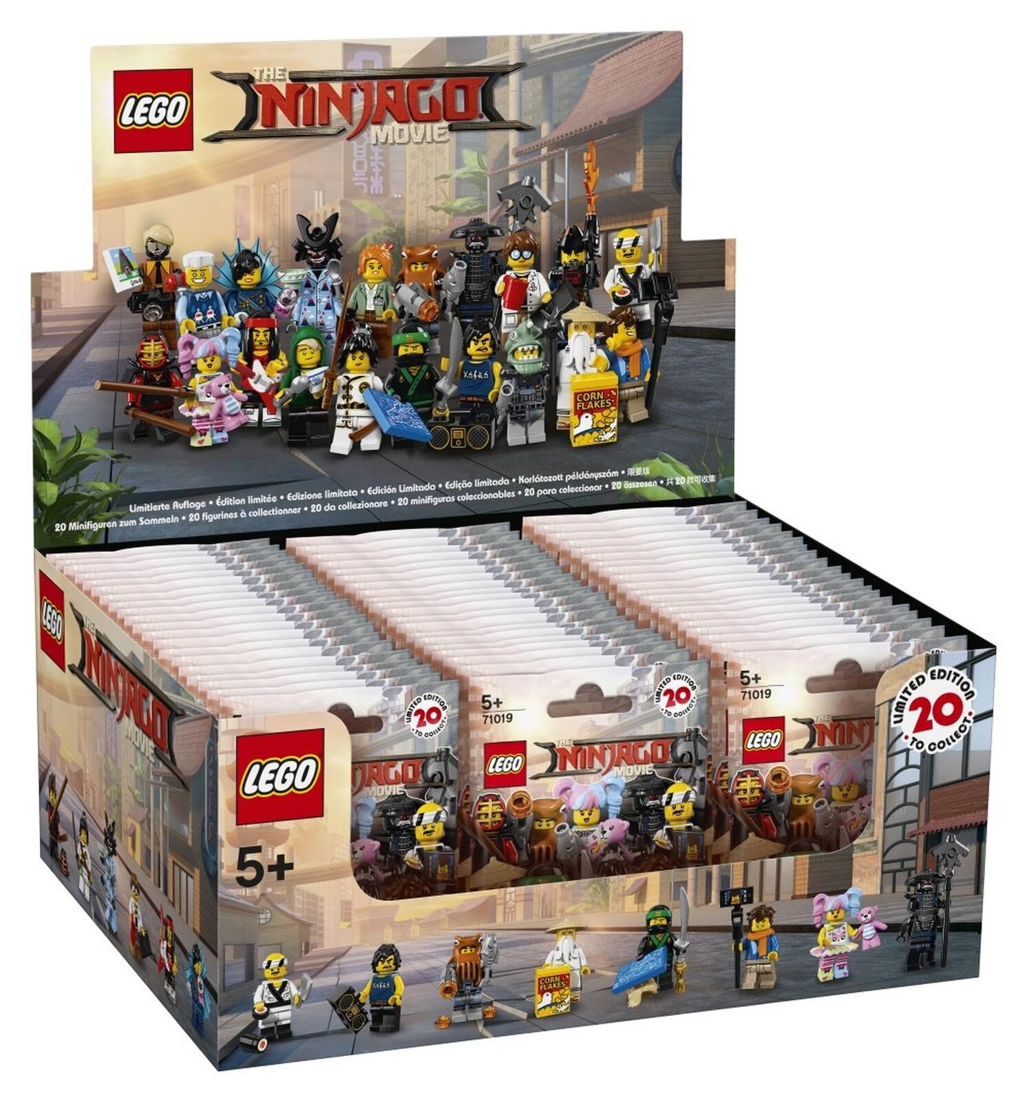 Full box of of of 60 Sealed packs 71019 The Lego Ninjago Movie Minifigures 2017 NEW d50c72