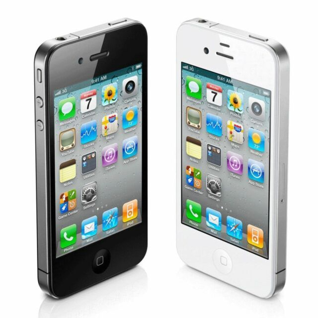 "New Apple iPhone 4S 16GB ""Factory Unlocked"" Black and White Smartphone"