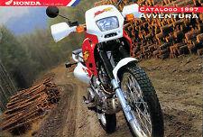 HONDA : CATALOGO 1997 AVVENTURA * XL 600 V TRANSALP * SLR 650 - NX 650 DOMINATOR