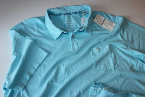 Tommy Bahama Reef Polo Shirt Bowtie Blue T216106 New XX-Large XXL 2XL