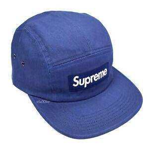 5b3e4c142660 NWT Supreme NY Dark Blue Box Logo Heat Reactive Camp Cap Hat SS18 DS ...