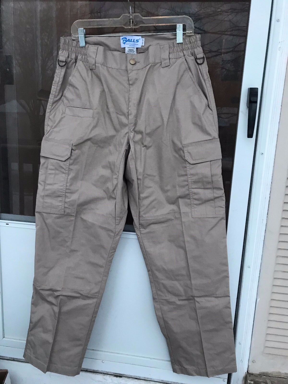 Mens Galls tactical cargo pants BEIGE SIZE 34X32 polyester blend