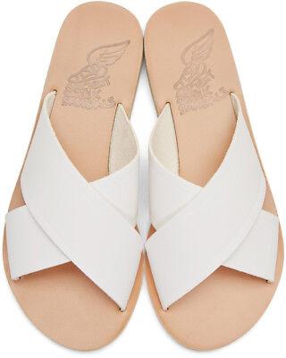*** Ancient Greek Sandals Mules Thais Cuir Blanc T. 38 Neuves ***