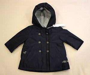 Détails sur IKKS manteau blouson parka bébé fille marine, taille 6 mois, neuf