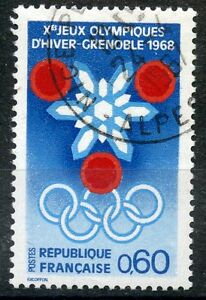 STAMP-TIMBRE-FRANCE-OBLITERE-N-1520-JEUX-OLYMPIQUES-D-039-HIVERS-GRENOBLE