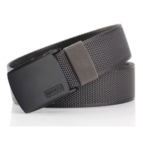 "1.5/"" Tactical Nylon Web Belt Flat Metal Buckle Quick Dry Casual Trousers Belts"