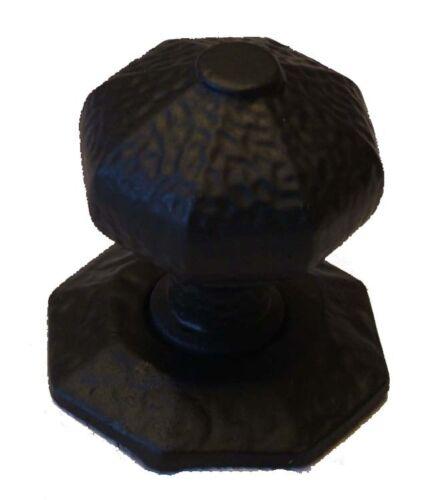 Petit rustique centre porte bouton//poignée en noir en fonte 37320
