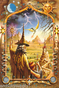 POSTER-FANTASY-WIZARD-RING-LORD-FREE-SHIPPING-F3009930-LC12-D