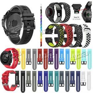 Schnellinstallation-fuer-Garmin-Fenix-3-5-5X-Plus-Silikonarmband-Easy-Fit-Strap