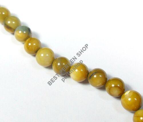 Muscheln Perlen 4mm Gelb Braun Perlmutt Kugel 65stk Schmucksteine  BEST U247