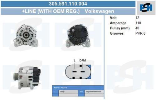 Lichtmaschine 305.591.110.004 mit Original Valeo Regler