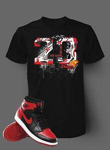 92e3fac37c1a9f 23 Get on My Level Tee Shirt to match Jordan 1 Banned Men Black ...