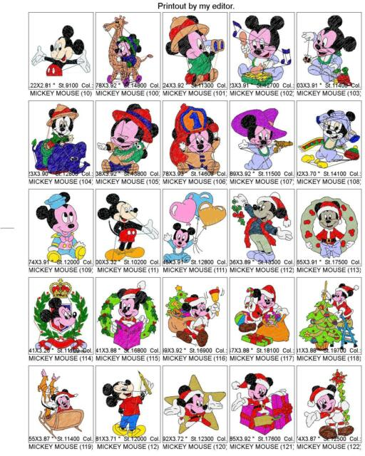 Cd 10 600 Disney Animal Cartoon Child Brother Embroidery Machine