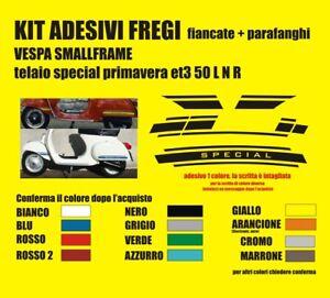 Kit Adesivi Vespa Piaggio 50 Special Et3 125 Smallframe Fregi Strisce Laterali