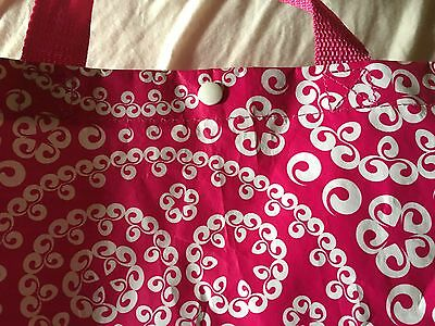 Tasche Tragetasche Schopper DEESSE rosa pink neu Handtasche Beutel weiß