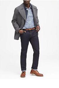 BANANA-REPUBLIC-Men-039-s-Size-33-30-34-30-NEW-Jeans-Denim-Pants-Straight-Dark-Wash