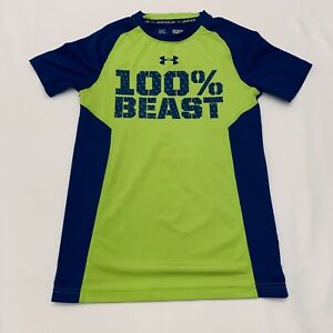 Under-Armour-HeatGear-Loose-Fit-100-Beast-Shirt-Boys-Small-S-YSM