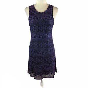 My Michelle Womens Sleeveless Lace Dress