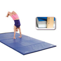 6' X 12' Ultimat® Gym Mat W/ 2' Panels & Fasteners On Ends Only (blue) on sale