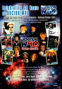 Doctor-Who-40th-Anniv-1963-2003-Trading-Card-Dealer-Sell-Sheet-Sale-Ad-Strickly