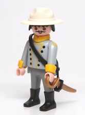 Playmobil Figure Western Civil War Confederate Soldier Officer w/ Hat Sword 3784