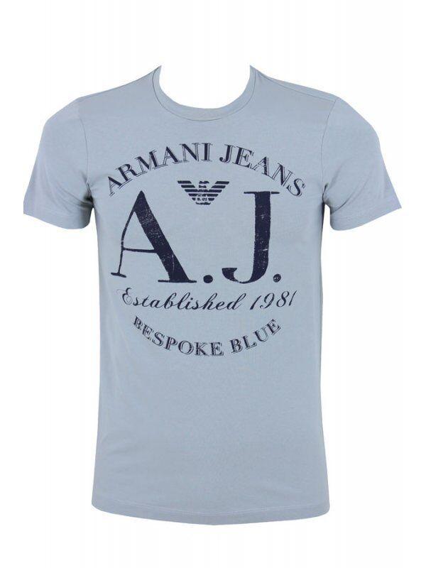 Armani Jeans Homme Gris H/S XXL T-shirt-SZ XXL H/S & XXXL BNWT 8a839b