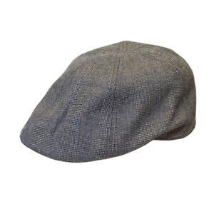 Checked-Flat-Cap-H61-Grey-Mens-Peaky-Blinders-Gatsby-Newsboy-Driving-Hawkins-Hat