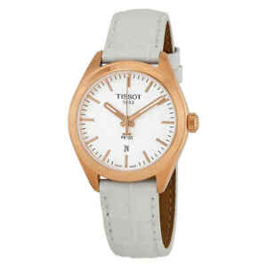 Tissot-PR-100-Silver-Dial-Ladies-Leather-Watch-T101-210-36-031-01