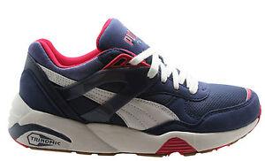 Puma R698 Basic sport Womens pizzo Scarpe da ginnastica Navy blu bianco 358068