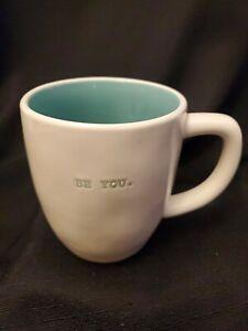 Rae-Dunn-Artisan-Collection-by-Magenta-Coffee-Mug-Blue-Typewriter-BE-YOU