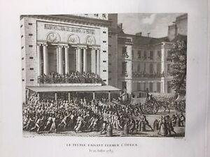 Opera-de-Paris-en-Juillet-1789-Revolution-Francaise-Rare-Gravure-Ancienne