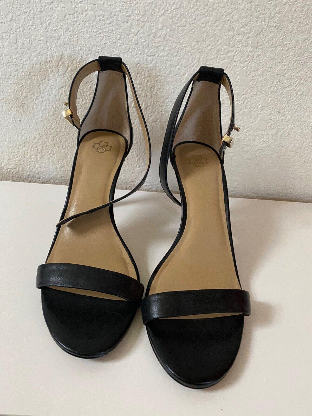 Ann Taylor Womens Heels 9.5 Leather black