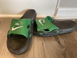 Vintage 90s NIKE Men's Green Slides