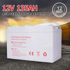 12V-135AH-AGM-Deep-Cycle-Battery-Portable-Power-Bank-For-Caravan-4WD-12-Volt