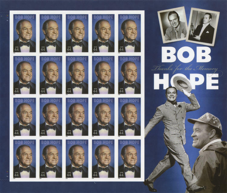 2009 44c Bob Hope, Thanks for the Memory, Sheet of 20 S