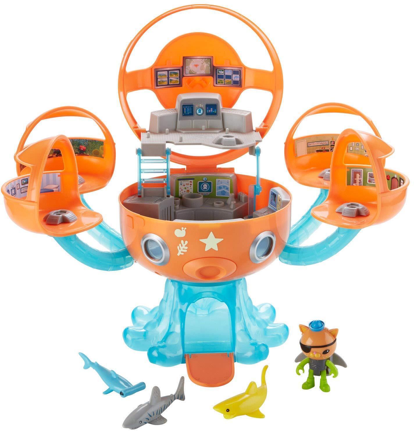Octonauts Octopod Shark Adventure Playset ready wearing his jet pack