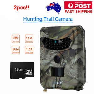 2pcs-BOBLOV-12MP-Trail-Camera-Hunting-Home-Security-Night-Vision-Wildlife-16GB