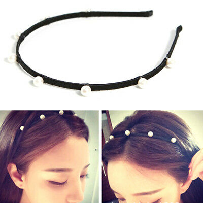 Ehrlichkeit Girl Charm Pearl Hair Hoop Hair Band Elegant Headband Headdress Hair Access Fwr